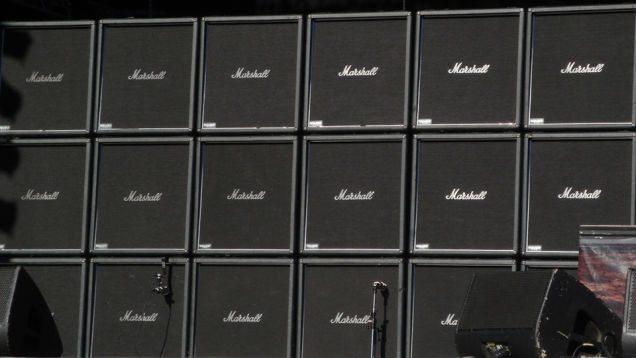 Parede de amplificadores Marshall, nada megalomaníaca