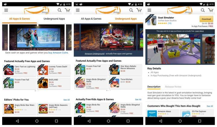 Amazon-Underground-app-screenshots
