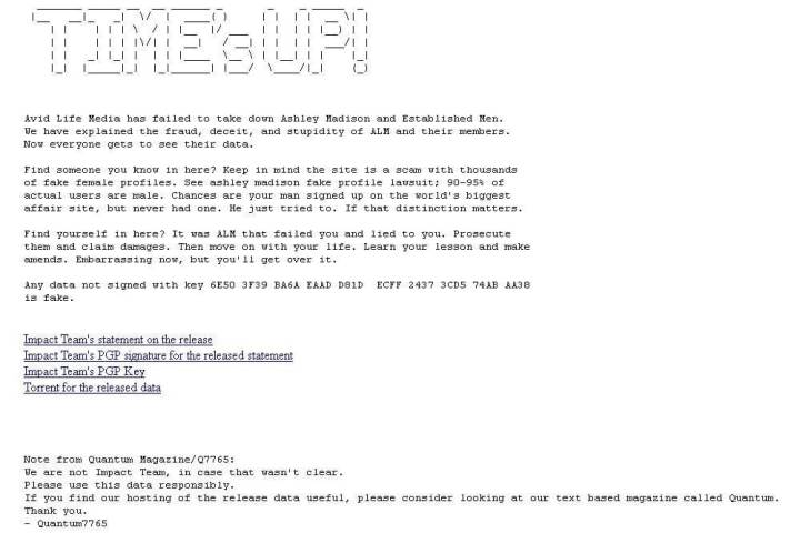 Cerca furada: Vazamento de quase 10GB de dados deixa usuários do Ashley Madison em alerta 7