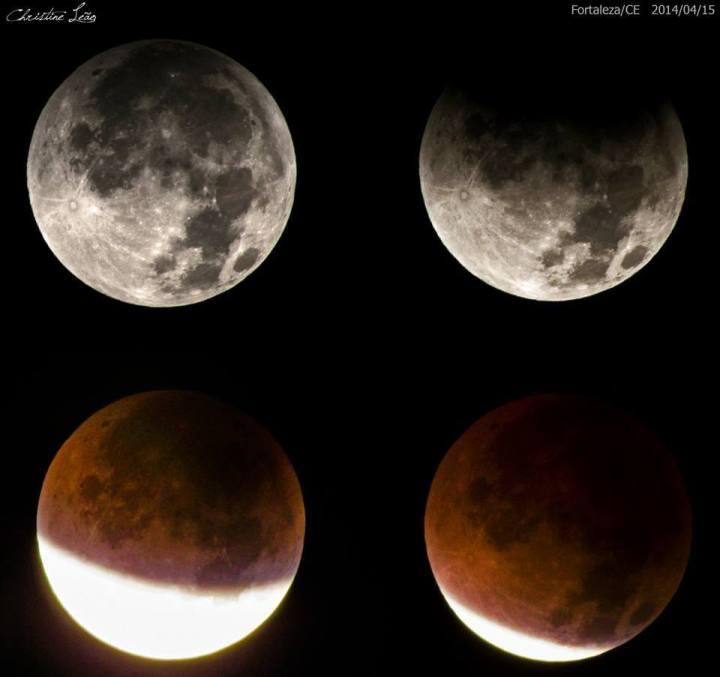 Eclipse da Super Lua, Fortaleza/CE (Facebook/Imagem: Christine Leão)
