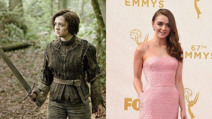 """maisie williams got red carpet 720x405 - No Mercy: """"Game of Thrones"""" tem vitória sangrenta no Emmys 2015"""
