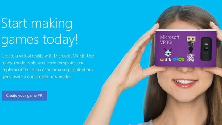 O texto acima é traduzido do russo - Microsoft VR Kit