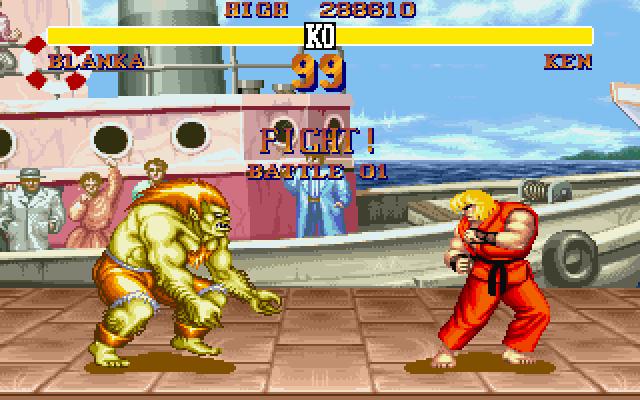 81601 street fighter ii dos screenshot blanka vs kenwww gamefaqs - Adeus Blanka? Laura é a nova lutadora brasileira em Street Figther V