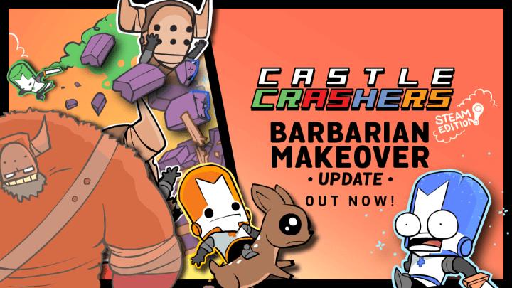 castle crashers barbarian makeover 720x405 - Castle Crashers: Barbarian Makeover traz novidades da versão Xbox One para o PC
