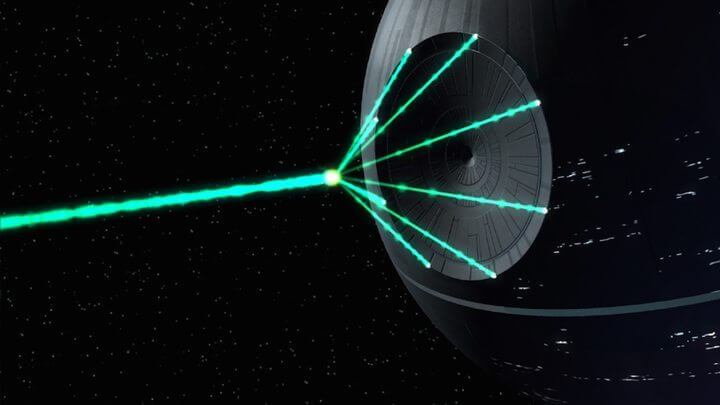 """estrela da morte real 720x405 - NASA registrou uma """"Estrela da Morte"""" real obliterando um planeta"""