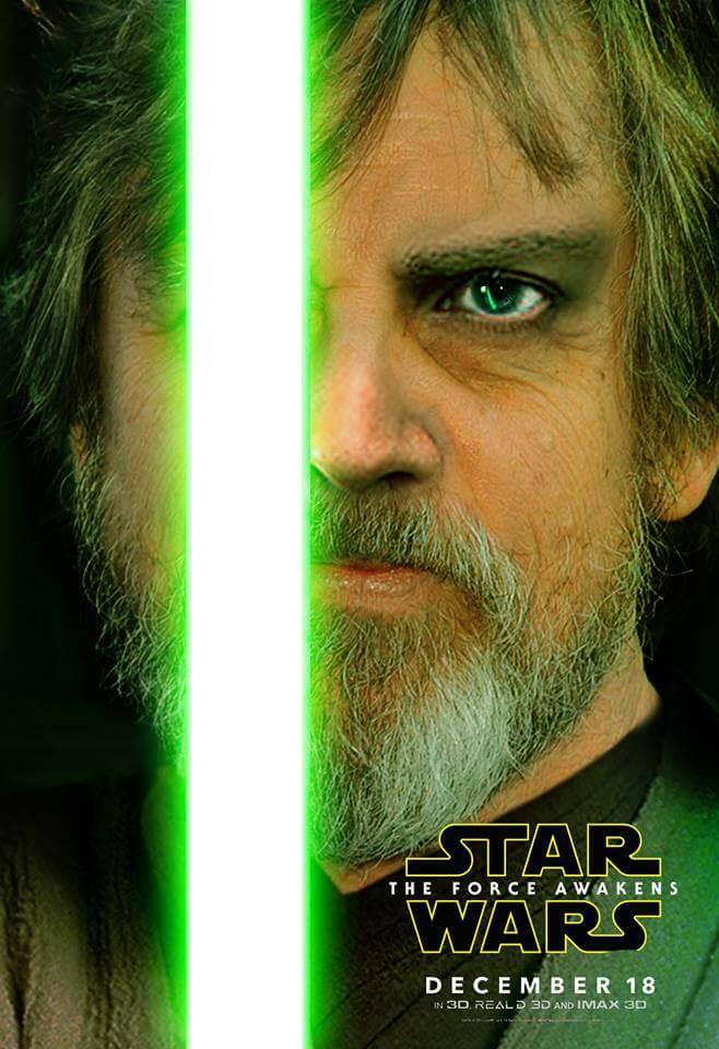 """poster luke - Protagonistas de """"Star wars: o despertar da Força"""" ganham pôsteres oficiais"""