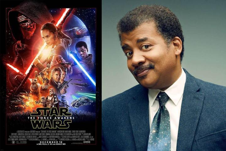 "star wars force awakens neil degrasse tyson 720x480 - Neil deGrasse Tyson fala sobre os ""furos científicos"" do novo Star Wars"
