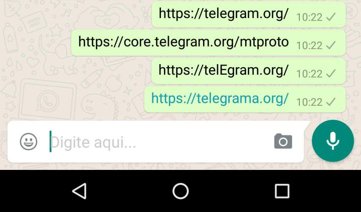 telegram bloqueado whatsapp1 720x423 - Golpe baixo: WhatsApp está bloqueando links do Telegram