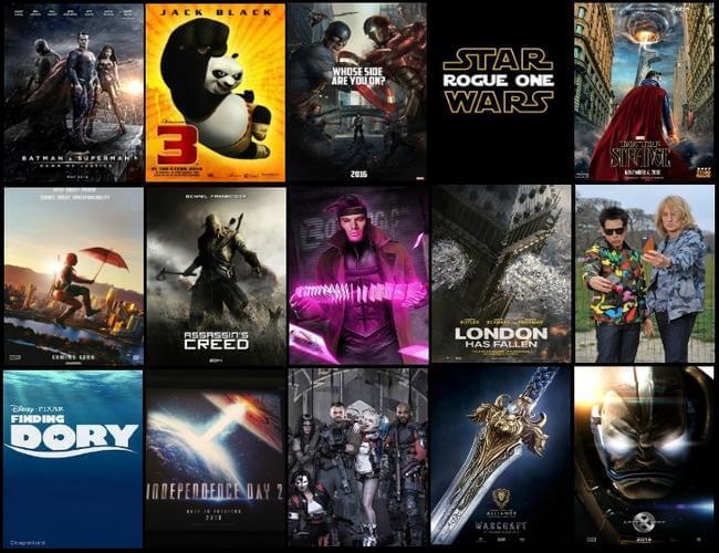 anticipated movies 2016 - Os filmes mais aguardados de 2016