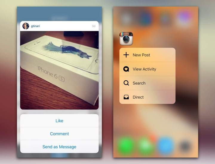 smt insta p2 720x549 - Instagram inclui recurso semelhante ao Force Touch em atualização