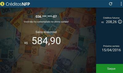 Creditos NFP Nota Fiscal Paulista