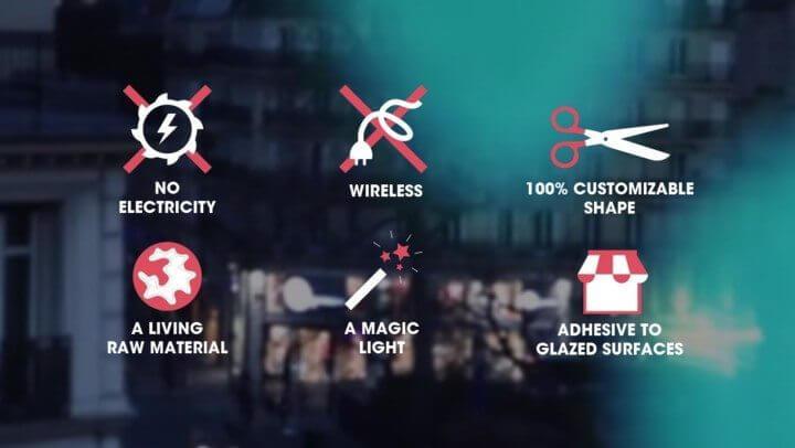 glowee 720x406 - Startup francesa ilumina ruas e fachadas sem gastar energia elétrica usando bactérias