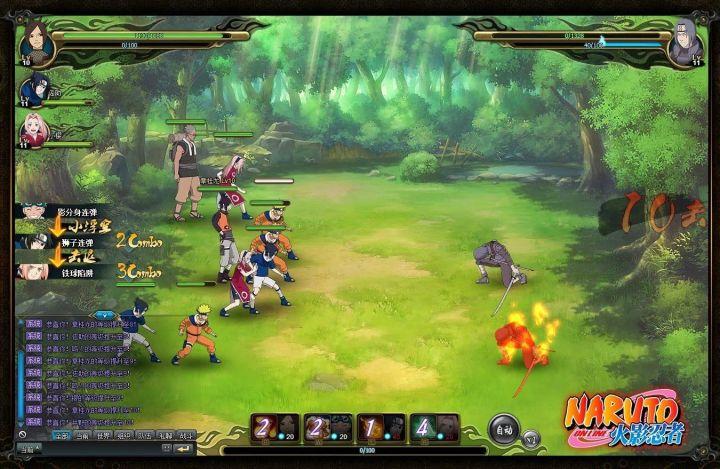 naruto online combat screen 720x469 - Naruto Uzumaki chega ao seu navegador em um MMORPG online e gratuito