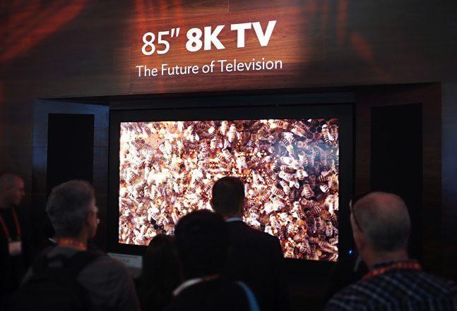 sharp 85 8k tv - Olimpíadas Rio 2016 terão transmissões em 8K e Realidade Virtual