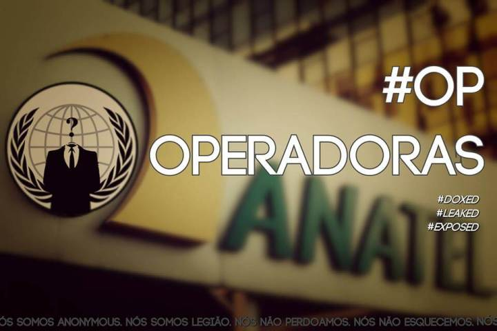 Banco de dados da Anatel Hackeado pelo Anonymous