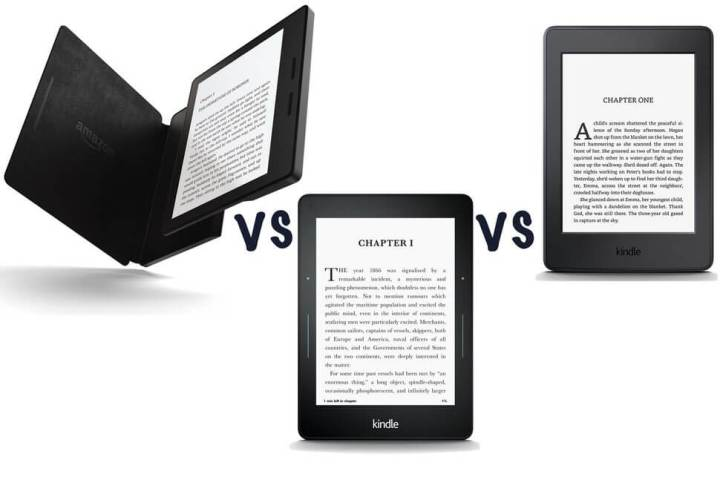 kindle oasis voyage paperwhite 720x480 - Amazon lança o Kindle Oasis com novo design mais ergonômico