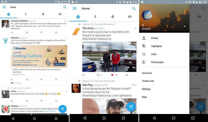 nexus2cee twitt 728x428 - Twitter para Android testa novo visual com Material Design