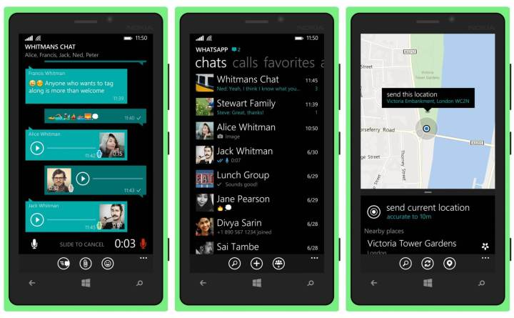 whatsapp windows phone 720x445 - WhatsApp Beta para Windows 10 Mobile ganha suporte à formatação de textos