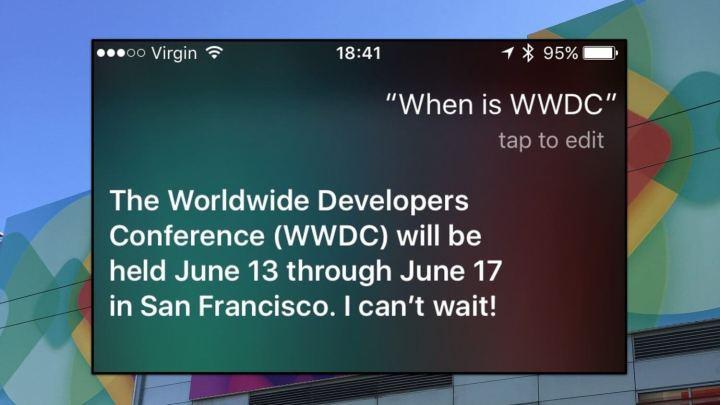 """Siri """"vaza"""" datas da WWDC 2016"""