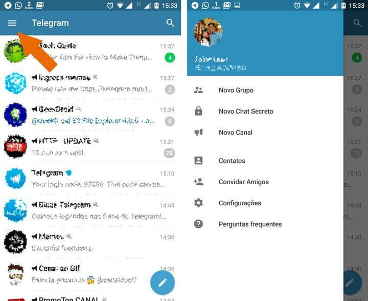 menu telegram 720x588 - Telegram: aprenda a instalar, criar uma conta e usar o aplicativo
