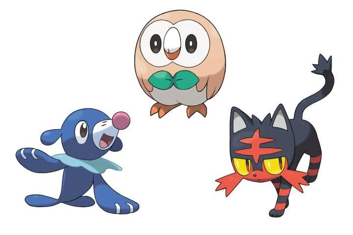 Estes são os Pokémon iniciais de Alola