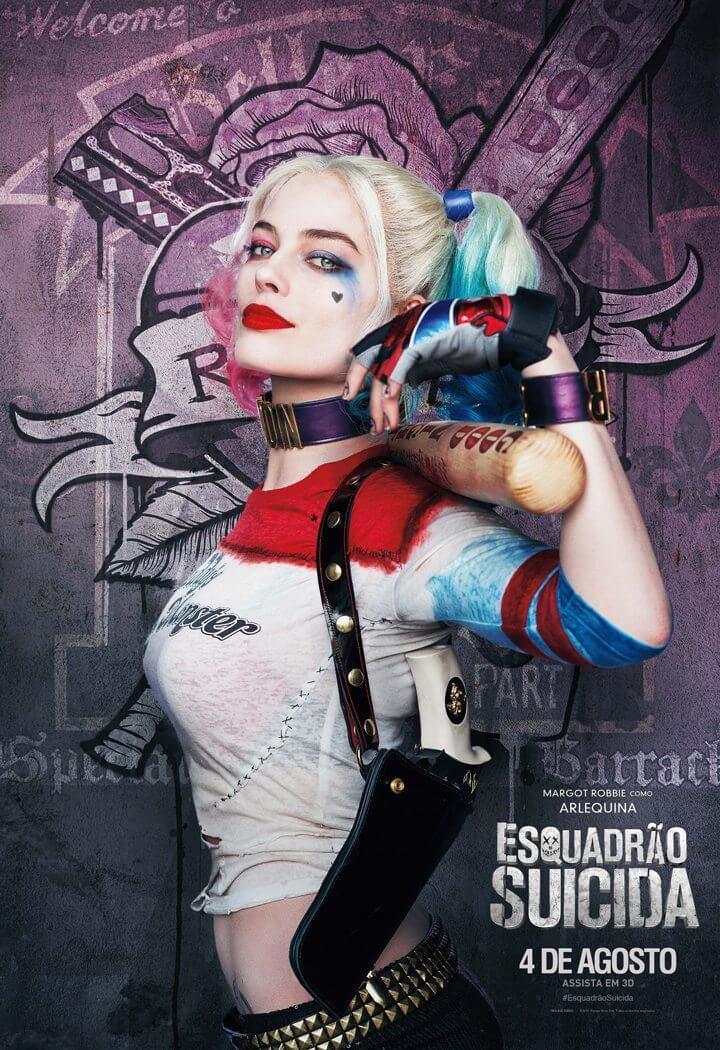 """Esquadrao Suicida Character Art Arlequina - Vilões de """"Esquadrão Suicida"""" ganham novas artes individuais"""