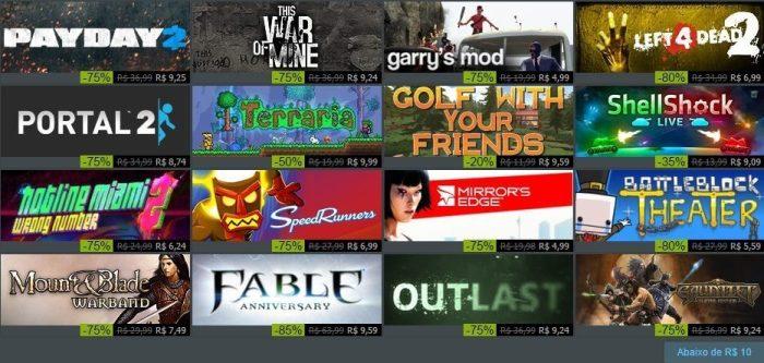 Steam Summer Sale 2016 - jogos abaixo de R$10