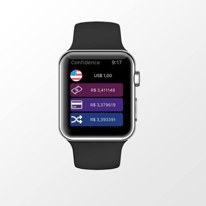 O aplicativo também funciona pelo Apple Watch