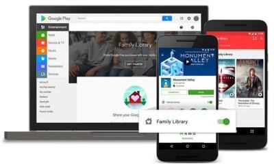 Biblioteca da família no Google Play - Google Play agora compartilha apps comprados entre a Família
