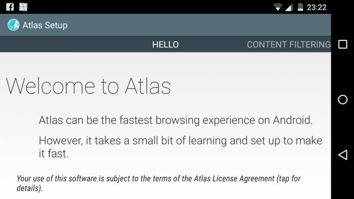 atlas web browser possui pesquisa inteligente