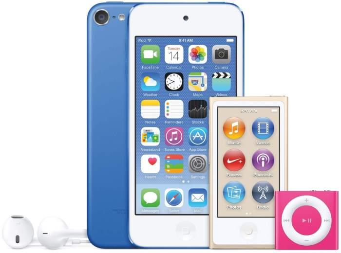 iPod family mid 2015 image 001 720x535 - Apple Brasil faz novo reajuste e preço dos iPods fica mais barato