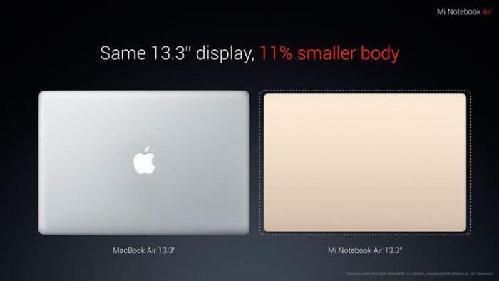 mi note vs macbook 720x405 - Xiaomi lança ultrabook barato para competir Macbook Air