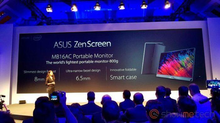 ASUS ZenScreen IFA 720x405 - IFA 2016: Asus apresenta o Zenwatch 3, ZenBook 3, Transformer 3 e 3 Pro, Zenpad 3S 10 e ZenScreen