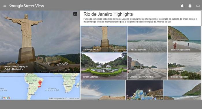 Jogos Olímpicos Street View
