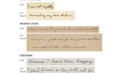 Computadores agora podem clonar a caligrafia das pessoas