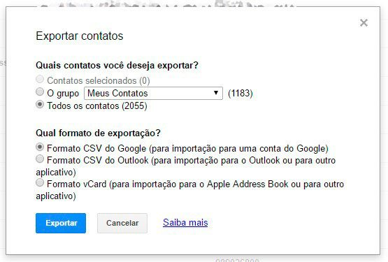 exportar google smt julian - Tutorial: como importar e exportar contatos do Gmail e Outlook