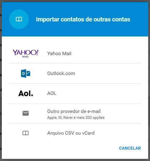 exportar selecionar hotmail - Tutorial: como importar e exportar contatos do Gmail e Outlook