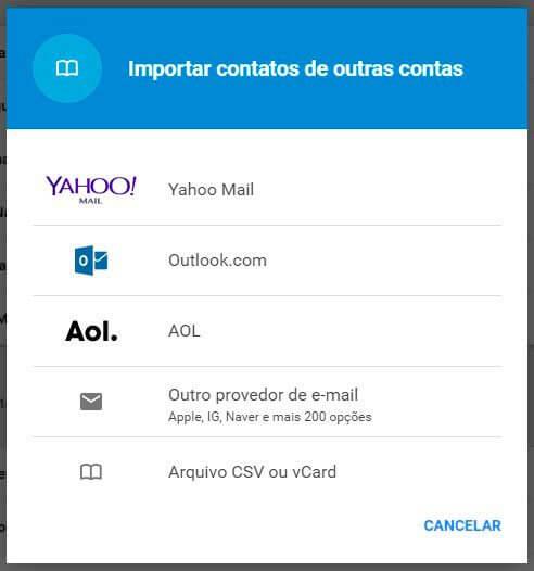 exportar selecionar hotmail - Tutorial: como importar e exportar contatos do Gmail e Outlook
