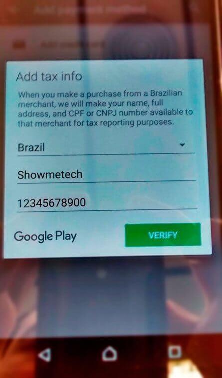 inserir CPF 444px - Tutorial: como ativar créditos do Google Opinion Rewards sem cartão de crédito
