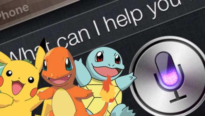 Essa integração poderia ficar melhor? Siri e Pokémon!