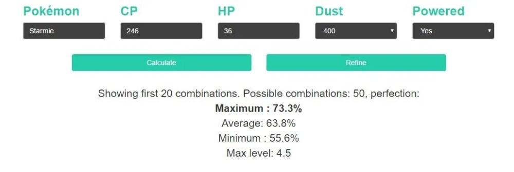 starmie - Tutorial: como descobrir o melhor Pokémon para evoluir