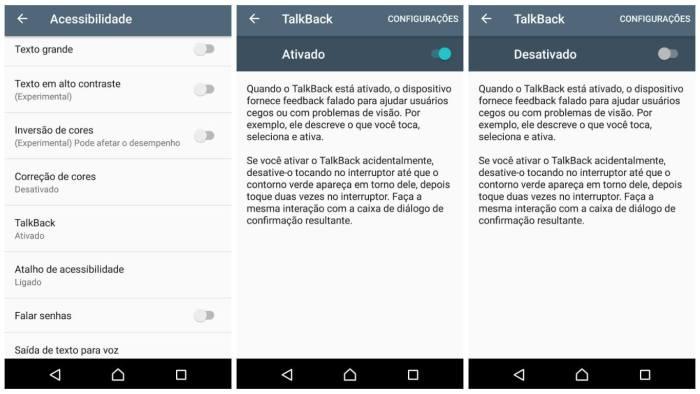 Desativando o TalkBack2