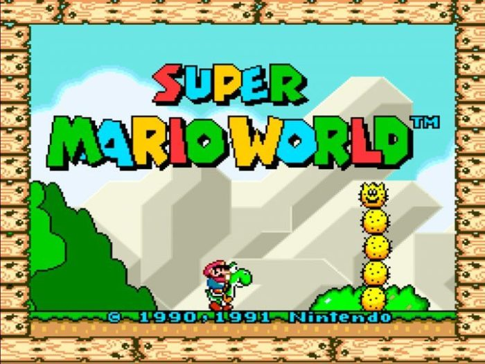 Emulador Super Nintendo no Xbox One rodando Super Mario World