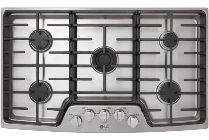 Cooktop a gás de 5 bocas LG Studio (LSCG367ST)
