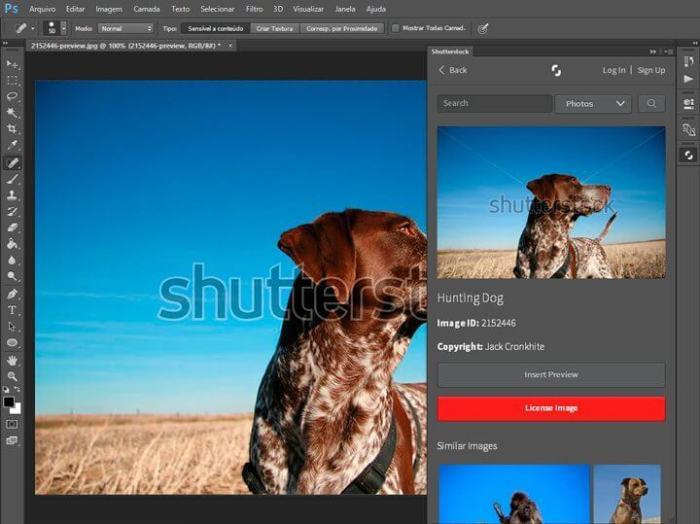 Plugin para Photoshop Shutterstock 1 720x539 - Shutterstock lança plugin para Photoshop