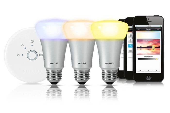lâmpadas HUE da Philips