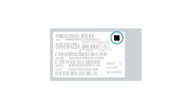 etiqueta do Galaxy Note7 que não explode