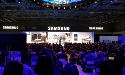 A Samsung apresentou novidades na sua linha de TVs e dispositivos eletrônicos, como lavadoras e refrigeradores, na IFA 2016