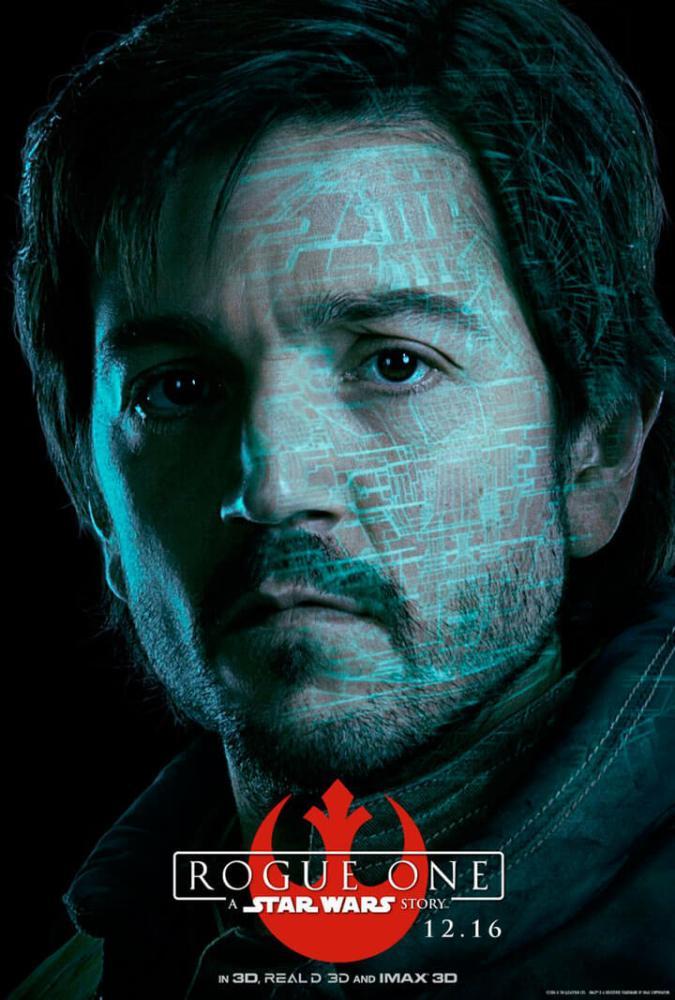 Cassian Andor (Diego Luna). Um oficial da inteligência da aliança rebelde.