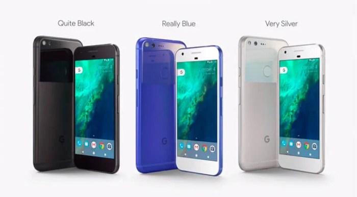 cores Google Pixel